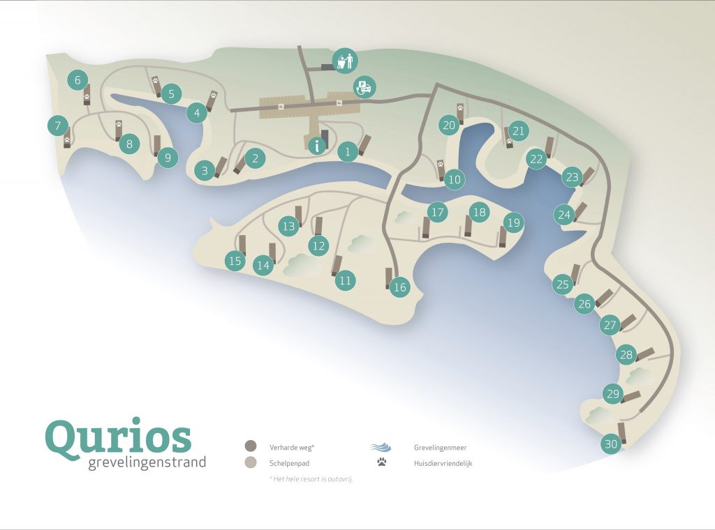 plattegrond grevelingenstrand